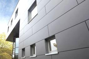Внешний слой структуры вентилируемых фасадов из керамогранита